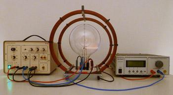 Versuchsaufbau Kathodenstrahlröhre
